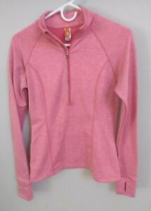 EUC-Lucy-Activewear-Halfzip-Athletic-Top-Pink-Salmon-With-Coin-Pocket-XS-TP