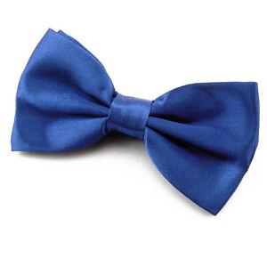 NOEUD-PAPILLON-pour-Homme-ou-Femme-en-Satin-Bleu-Roi-Roy-blue-bowtie