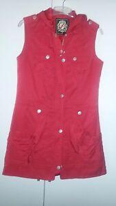 online store 81f28 06edf Details zu Leichte Damenweste, rot, Gr. 40, top Zustand