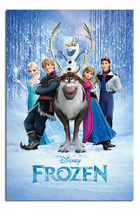 Frozen-Disney-Movie-Cast-Large-Wall-Poster-New-Laminated-Available