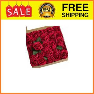 50 Rosas Roja Artificiales Ideal Para Centro De Mesa Party Boda Decoracion HOT