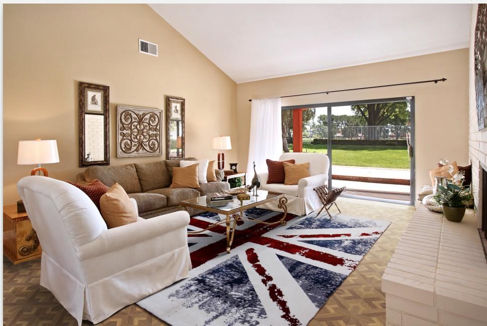 Large Union Jack Area rugs Anti-Skid Area rug Dining Room Home Carpet