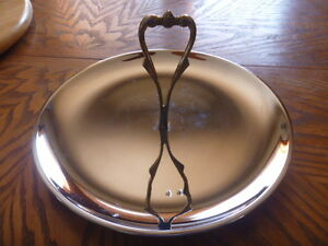 KROMEX-USA-serving-tray-chrome-mid-century-wedding-hors-d-039-oeuvres-snacks