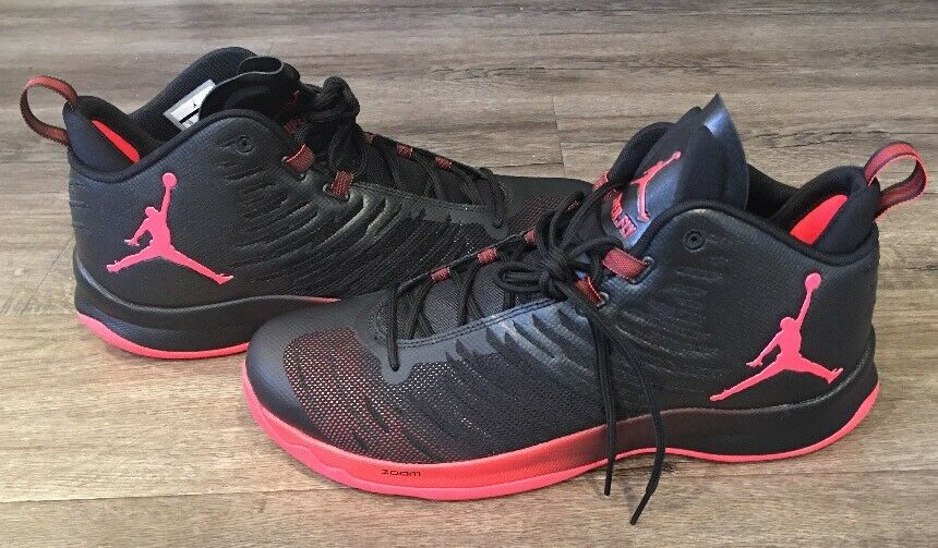 New Jordan Super Fly SIZE 15 Men's Basketball Shoe BLK / INFRRD 844677-003 New shoes for men and women, limited time discount