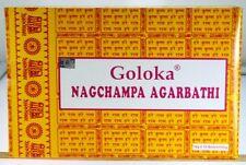 INCIENSO NAG CHAMPA GOLOKA AGARBATHI 12 PAQUETES 12x16Gr 196GRAMOS STICKS