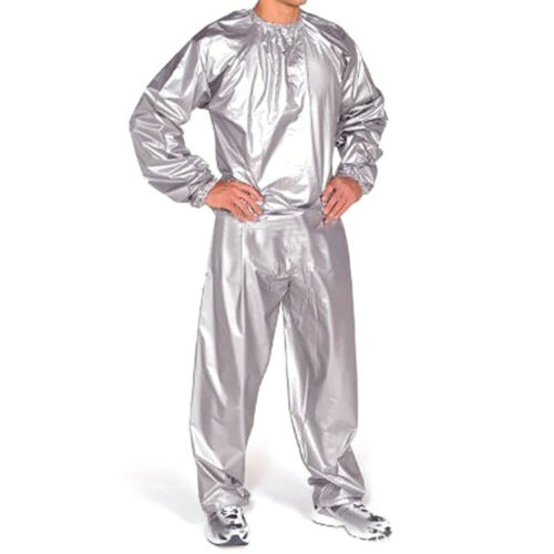 NEW Heavy Duty Sweat Sauna Suit Gym Fitness Exercise Fat Burn Weight Loss L-5XL
