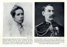 Madagaskar Königin Ranavalona III. und General Galliéni Histor. Memorabilie 1939