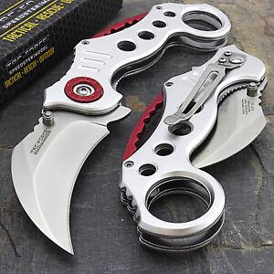 """7.75"""" TAC FORCE KARAMBIT SPRING ASSISTED TACTICAL FOLDING POCKET KNIFE Open"""