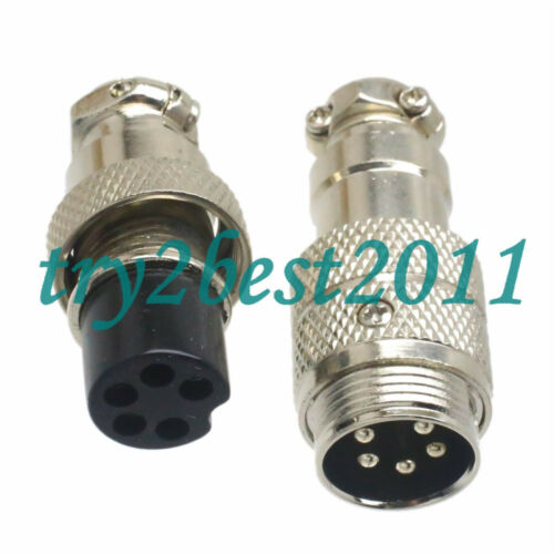 Aviation Plug M16 16mm 5pin male and female for Panel Power Chassis Metal