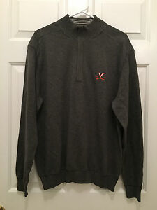 NWT Men's University of Virginia UVA Cavaliers Cutter & Buck Gray Sweater Medium