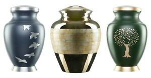 Urns-for-Ashes-Adult-Large-Cremation-Funeral-Memorial-Human-Remains-Screw-Lid