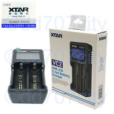 Xtar VC2 USB Li-ion Battery LCD Charger For 3.7V 10440 18650 26650 Batteries
