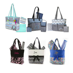 Details About Personalized Baby Diaper Bag Sets Baby Bag Custom Name Monogram Gift Mommy Bag