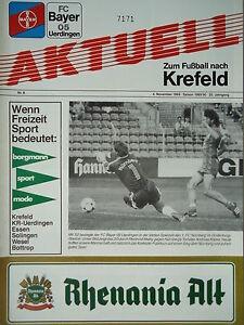 Programm 1992//93 Bayer 05 Uerdingen Mönchengladbach