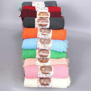Ladies-Women-039-s-Long-Candy-Color-Soft-Cotton-Scarf-Wrap-Scarf-Scarf-Fashion