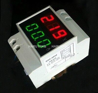 DIGITAL LED Dual display 100A Ammeter 300-450V 380v AC  DIN RAIL ELECTRIC Meter
