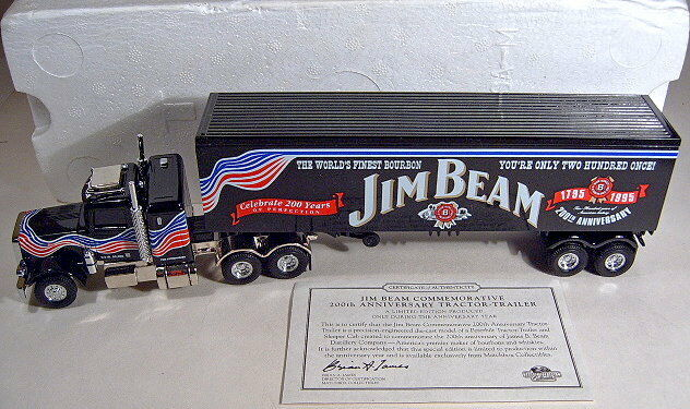 Matchbox k-186 Peterbilt truck  jim beam  metal