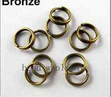 Wholesale Silver/Golden/Copper/Gunmetal Metal Split Rings 4/5/6/8/10/12mm