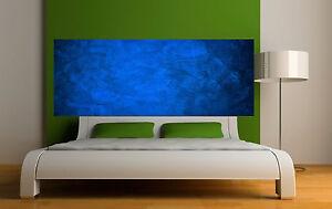 Adesivo testata del letto decorazione da muro colore blu scuro ref