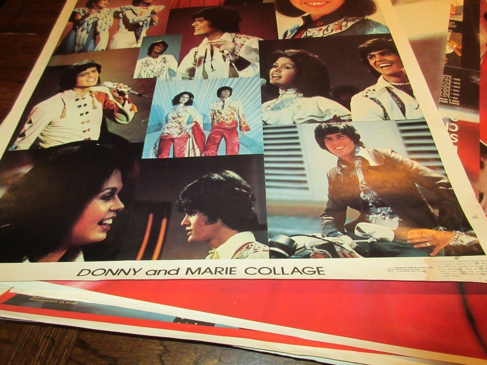 "Donny & Marie , POSTER , Collage , 1976 , 23"" X 35"""