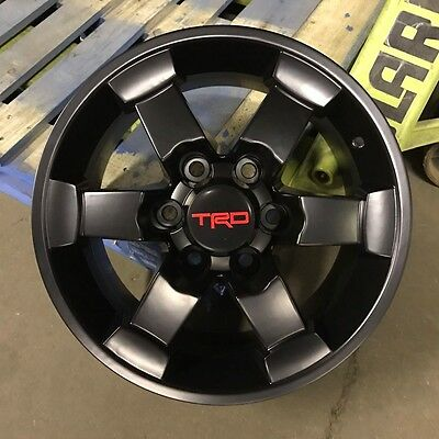 "16"" TRD MATTE BLACK STYLE RIMS WHEELS FITS TOYOTA FJ CRUISER 4RUNNER TACOMA"