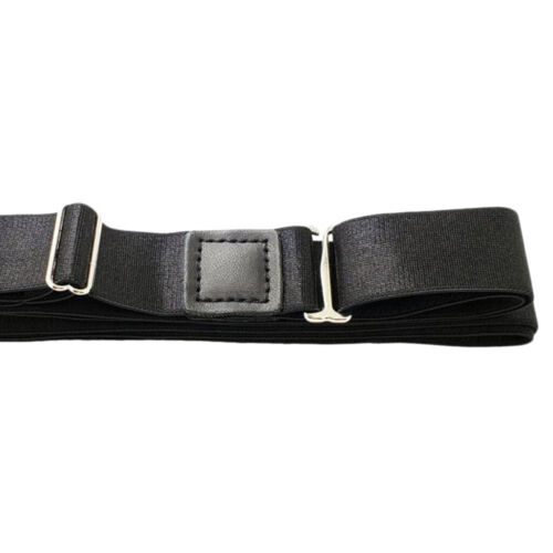 Black Keep Shirt Tucked in Stretchy Shirt Stays Belt for Formal One Size
