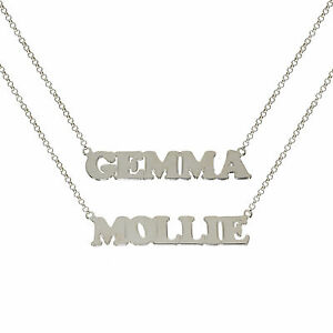 9667ae072367e Details about STERLING SILVER NAME CHAIN PERSONALISED WE MAKE ANY NAME  BELCHER NECKLACE BOXED