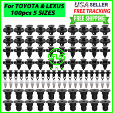 100x Toyota Amp Lexus Trim Panel Clips Bumper Fender Push Pin Rivet 7 8 9mm Engine