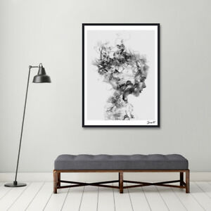 Superior Image Is Loading Modern Black White Girl Poster Canvas Wall Painting