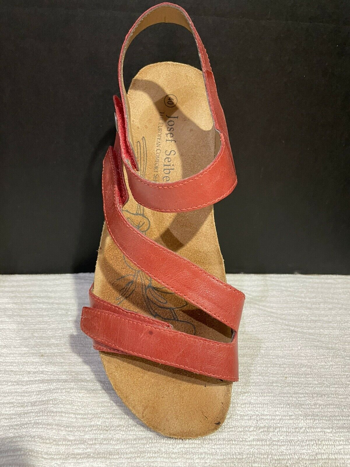 Josef Seibel Tonga  Womens Strappy Sandals In Red - image 7