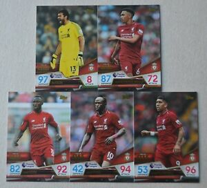 2018-19-MATCH-ATTAX-ULTIMATE-LIVERPOOL-5-BASE-CARDS-FULL-SET