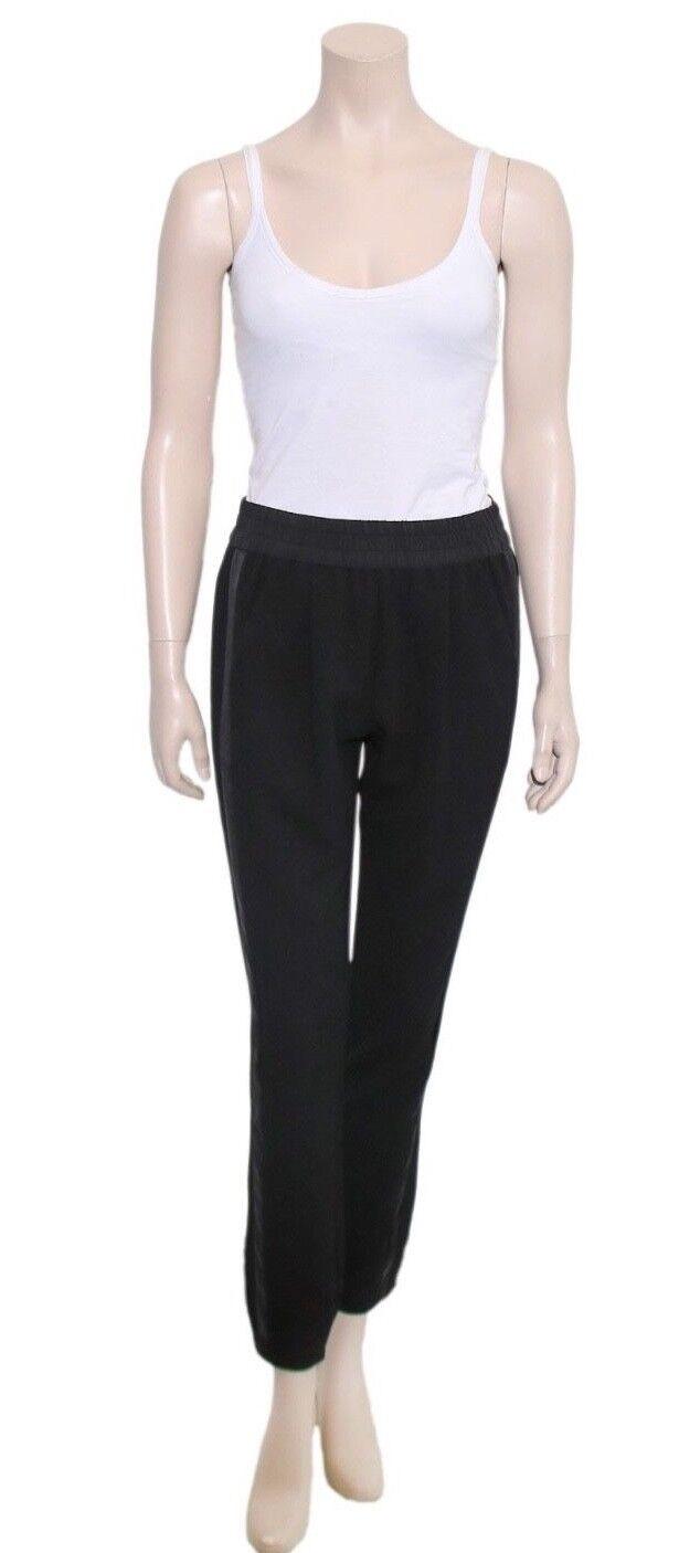 REBECCA TAYLOR Silk Stripe Pants (SIZE 2)