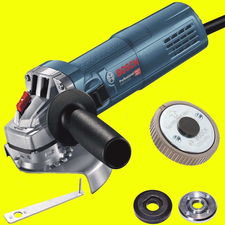 Bosch Winkelschleifer GWS 9-125 S mit DREHZAHLREGELUNG + Schnellspannmutter SDS