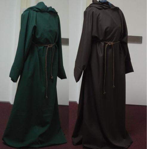 Grey fleece Jedi Robe Pagan LARP Cosplay renfair
