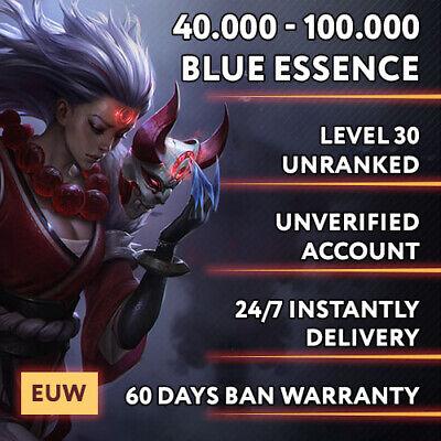 EUW League of Legends LOL account 40.000 - 100.000 be ...