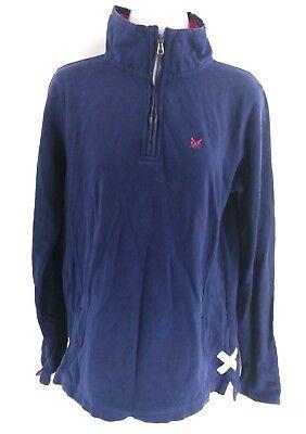 Sensibile Crew Abbigliamento Maglione Pullover Da Donna Viola 12 Zip Blu Cotone 1/4-mostra Il Titolo Originale Ampia Selezione;