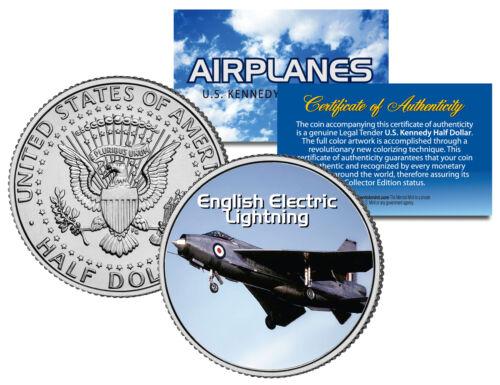 Airplane Series ENGLISH ELECTRIC LIGHTNING Kennedy Half Dollar US Coin
