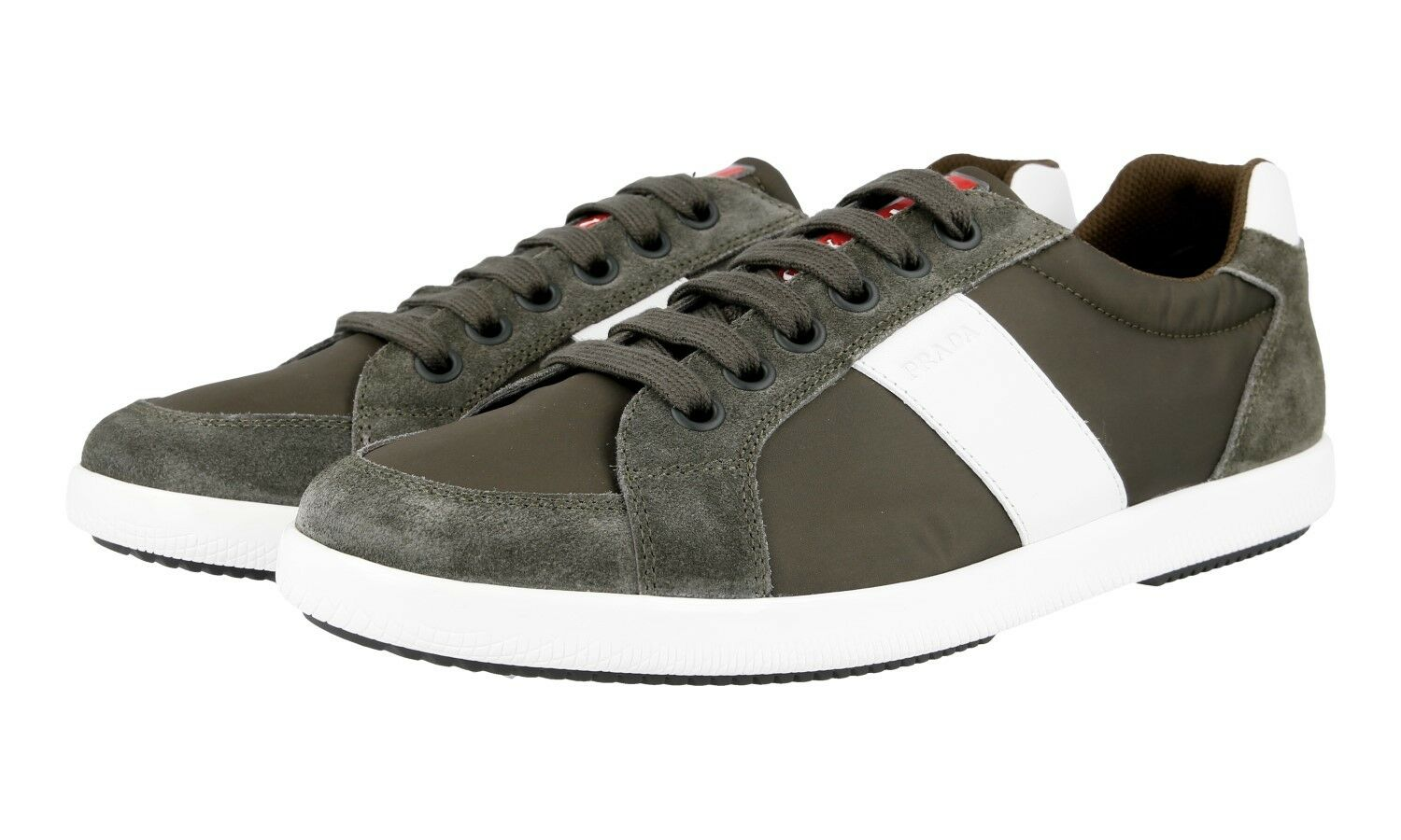 AUTHENTIC LUXURY PRADA SNEAKERS SHOES 4E2845 MIMETICO NEW US 11 EU 44 44,5