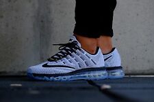 Brand New NIKE AIR MAX 2016 Running Shoes 806771-101 White/Black SZ US M 8 UK 7