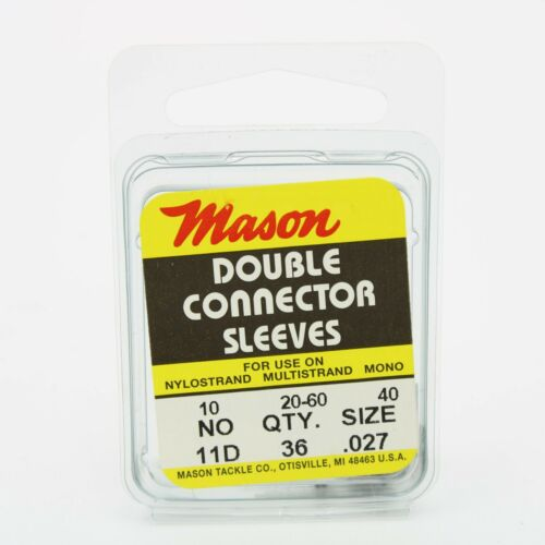 Mason Tackle Double Connector Sleeves Fishing Gear Pick a Size