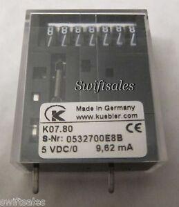 kubler k07 80 5vdc 7 digit non resettable impulse counter coin
