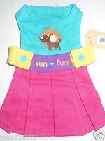Dog Pet Clothes Waghearted Sun Fun Dress Medium M