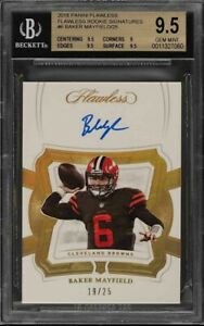 2018-Panini-Flawless-Signatures-Baker-Mayfield-ROOKIE-RC-AUTO-25-6-BGS-9-5