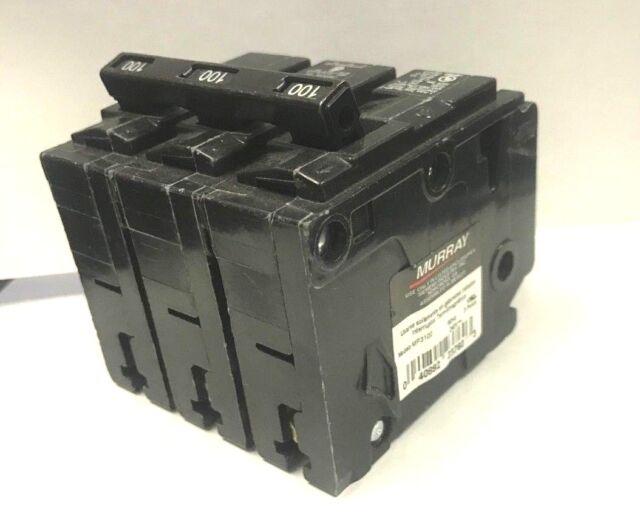 MURRAY 100 AMP CIRCUIT BREAKER 240 VAC 3 POLE MP3100
