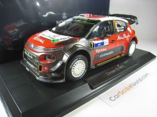 CITROEN C3 WRC 2017 WINNER RALLY MEXICO  K.MEEKE 1 18 NOREV