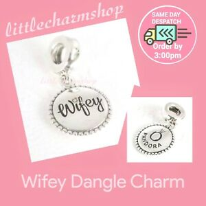 New-Authentic-Genuine-PANDORA-Silver-Wifey-Dangle-Charm-ENG791169-33-RETIRED
