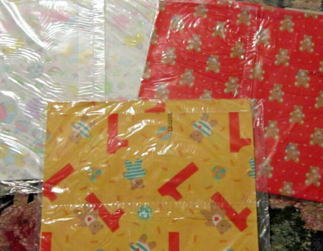 Lot Of NOS Gift Wrap Ambassador Baby First Bday Shower Birthday Wrapping Paper