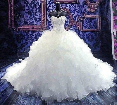 New White/ivory Wedding dress Bridal Gown custom size 6-8-10-12-14-16-18-20-22
