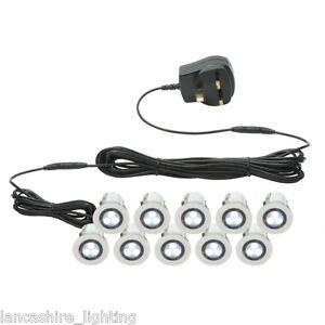Led Bathroom Plinth Lights 10 x 30mm recessed white led decking lights/ plinth lights