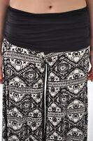 T Party Tribal Print Wide Leg Pants